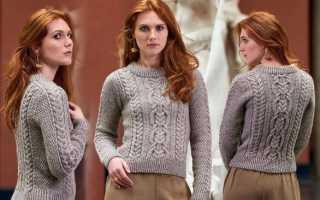 Вяжем пуловер-погон «EIRA» спицами: описание, схема узора, видео мк