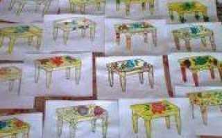 Аппликация «мебель» — развиваем пространственное мышление