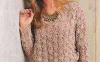 Женский ажурный пуловер спицами (схемы)
