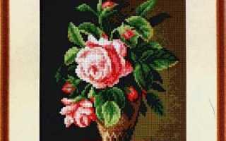 Вышивка крестом розы с подборкой схем