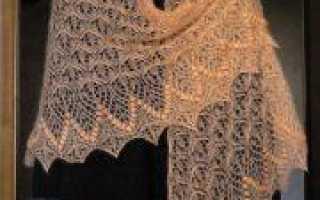Шаль цветочное эхо: процесс вязания спицами по схеме
