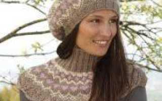 Береты спицами схемы на зиму с описанием вязания