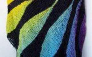 Вязание шали жар птица спицами с описанием и схемами
