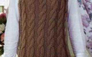 Вязаные сарафаны спицами для женщин и девочек