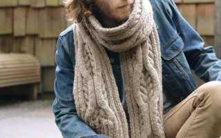 Мужской шарф с оригинальным узором спицами: схемы, описание, фото, видео мк