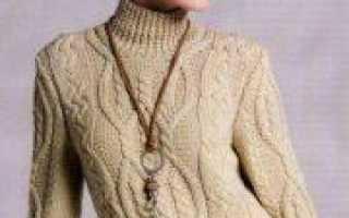 Вязание спицами женского пуловера с косами: описание схемы