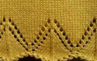 Вязание коймы спицами по схеме с описанием (видео урок)
