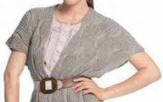 Жилет спицами для женщин больших размеров с узорами (схема)