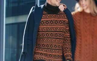 Мужской свитер с воротником спицами: схемы и узоры, описание вязания, видео мк, 2 модели