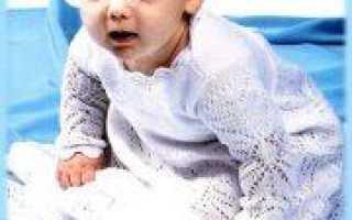 Крестины: вязание спицами крестильнй одежды для малыша