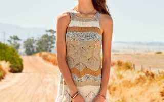 Платье с бретелями: опсание, узоры, схемы, видео мк, 6 моделей