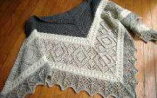 Коляда: вязание теплого платка спицами к празднику