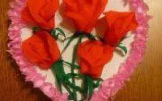 Аппликации из гофрированной бумаги в цветочных компасициях и компазиции с торцеванием