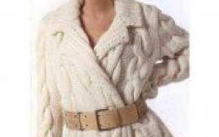 Кардиган спицами из толстой пряжи: вязание по схеме