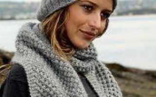 Шапка чулок схема вязания спицами мужской и женской моделей