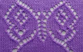 Узор бабочки спицами схема и описание, видео мк: 14 вариантов