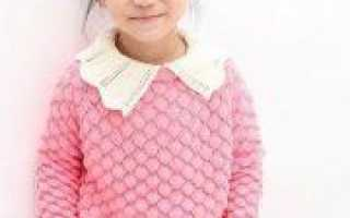 Джемпер спицами для девочки: вязание по схеме