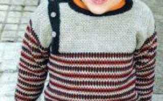 Пуловер для мальчика спицами: схема с описанием