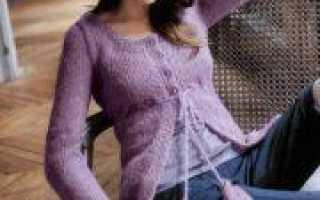 Жакет из мохера спицами: схема вязания и выкройка