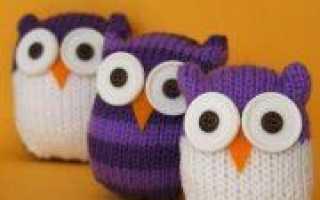 Вязаные игрушки спицами для детей и к новогодним праздникам