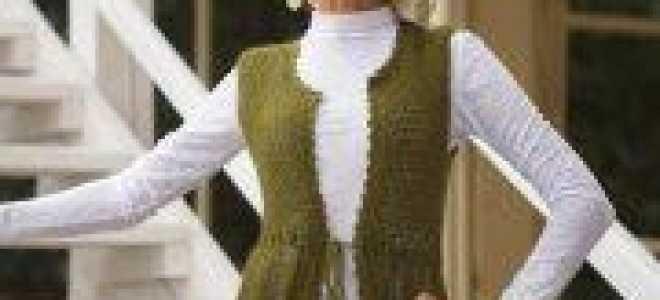 Ажурный жилет спицами для женщин: модели для вязания