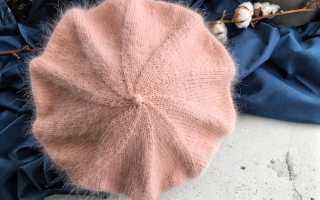 Берет из пуха норки спицами: описание, фото, видео мк, схемы вязания
