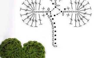 Листочки крючком со схемами и описанием: 26 вариантов исполнения