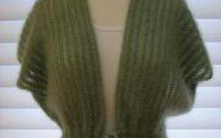 Жилет спицами из мохера для женщин (схема и описание процесса)