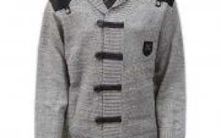 Кардиган спицами для мальчика: вязание разноцветными нитками