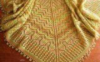 Шаль спицами: вязание разными способами (схема и фото)