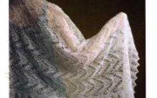 Вязание спицами день матери: шаль в подарок