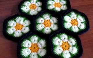Схема крючком африканский цветок: описание с фото и видео МК