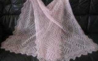 Палантин спицами из мохера: модели для вязания по схеме