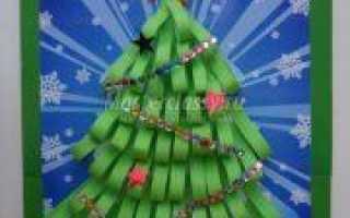 Аппликации новогодние: яркие поделки из цветной бумаги и клея