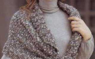 Пелерина спицами: вязание ажурной накидки по схеме