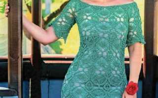 Платье с открытыми плечами крючком: схемы и описание, видео мк, 2 модели