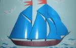 Кораблик аппликация по фото и видео мастер классам