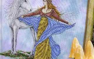 Сказочная вышивка с феями (схемы)