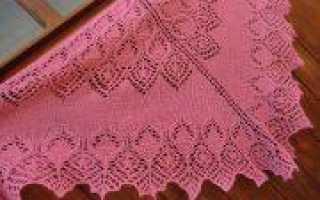 Шаль лебедушка спицами с подробной инструкцией и схемой