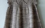 5 вариантов вязаных спицами платьев с кокеткой для девочки: описание, узоры, фото и видео мк