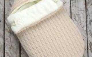 Конверт для новорожденного зимний: вязание спицами