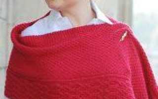 Вязание шарфа трансформер спицами: схема с описанием