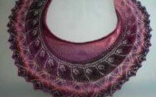 Мини шаль спицами: поэтапное вязание женского аксессуара