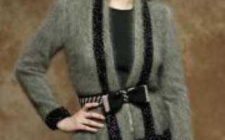 Кофта из ангоры спицами: вязание ажурного узора (схема)