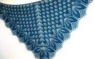Шаль харуни описание и схема вязания спицами