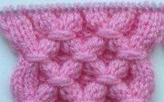 Вязание узора «Вафли» спицами по схеме с описанием