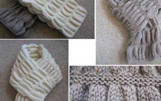 Узоры для шарфа спицами: 12 вариантов со схемами и описанием