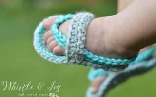 Сандалики для мальчика крючком: фото и описание