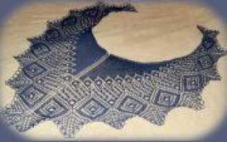 Шаль энгельна: вязание спицами по схеме с описанием