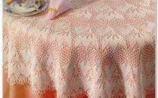Скатерть спицами: разные модели со схемами